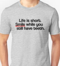 Smile Happy Friend Funny Joke Gift Present Birthday Unisex T-Shirt