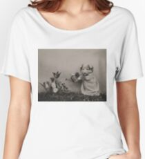 Puppy watering flowers Women's Relaxed Fit T-Shirt