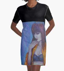 PONDEROUS INDENTATIONS Graphic T-Shirt Dress