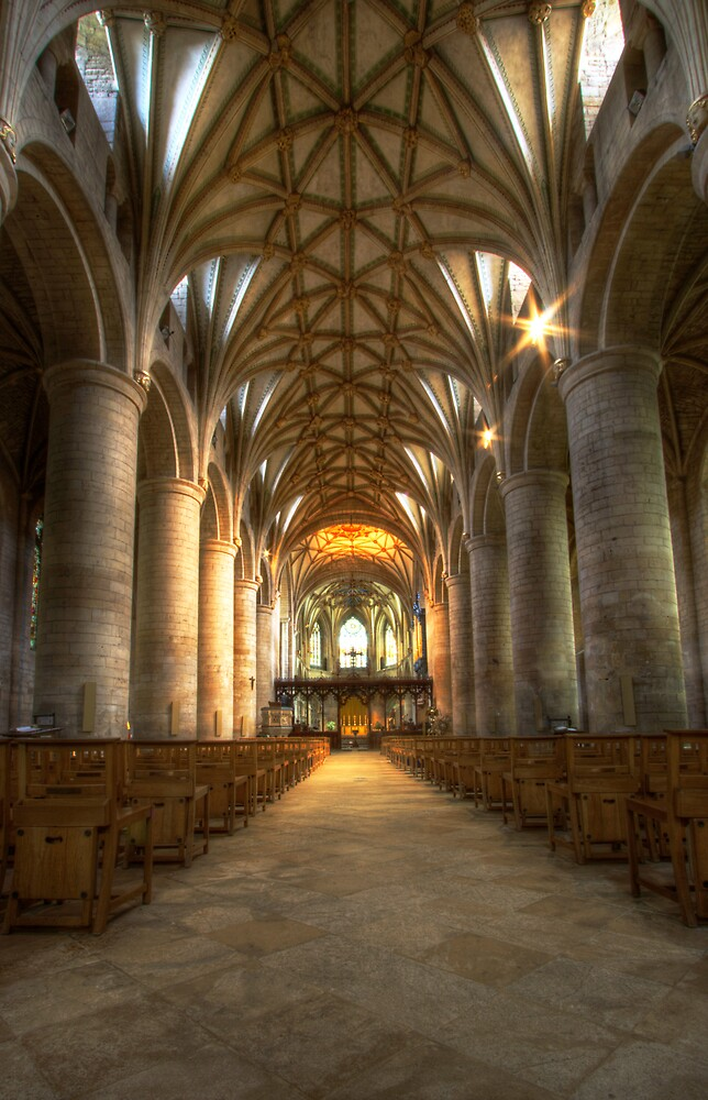 Tewkesbury Abbey Interior by igotmeacanon