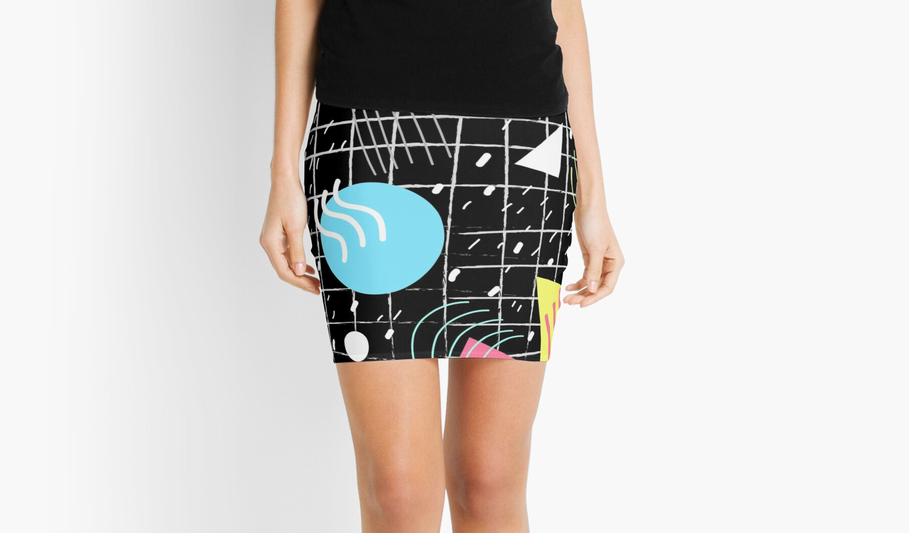 80s Memphis Mini Skirt