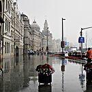 The Bund in the Rain  by Ethna Gillespie