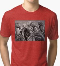 The First Doctor and the Zarbi Tri-blend T-Shirt