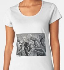 The First Doctor and the Zarbi Women's Premium T-Shirt