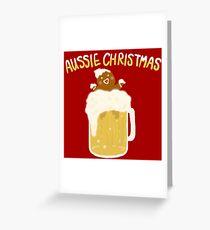 Aussie Christmas - Beer Greeting Card