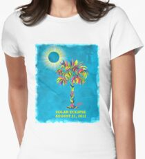 Solar Eclipse 2017 Women's Fitted T-Shirt