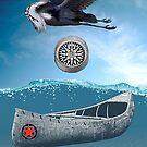 Canoe Bird And Compass by Zehda
