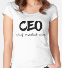CEO Chief Essential Oiler Women's Fitted Scoop T-Shirt