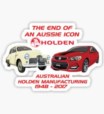 The End Of An Aussie Icon Sticker