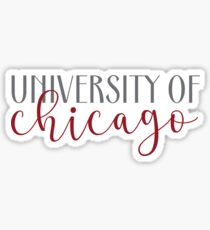university of chicago Sticker
