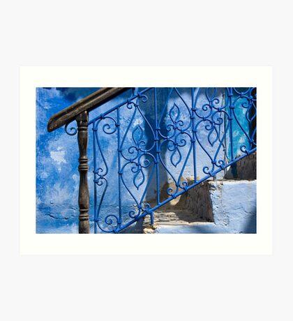 Brown on Blue Art Print