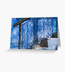 Brown on Blue Greeting Card