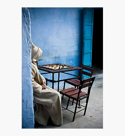 Solitary Chess Player Photographic Print