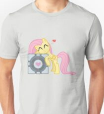Fluttershy with Companion Cube T-Shirt