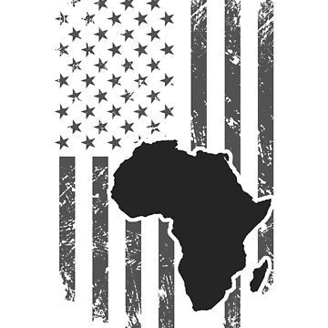 Africa Shirt Africa Continent with American Flag Shirt by Odettemon