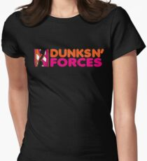DUNKS N' FORCES Women's Fitted T-Shirt