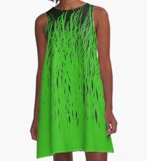 Coloré Champ de l'herbe A-Line Dress