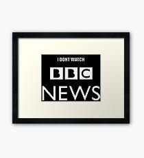 Trump BBC News Framed Print