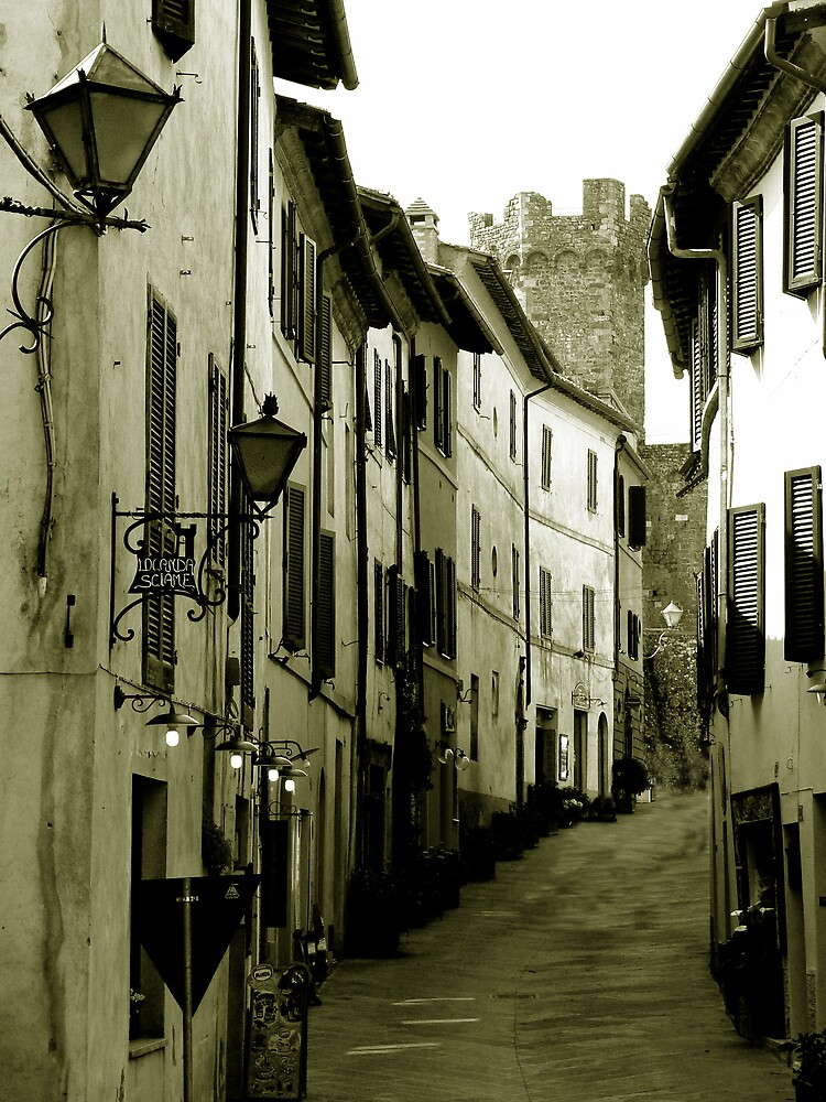 Historic town in Tuscany by avocet