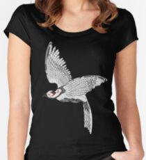 Vector pheasant Women's Fitted Scoop T-Shirt