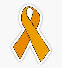 Orange Awareness Ribbon Sticker