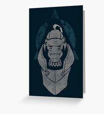 Alphonse Elric Grunge Greeting Card