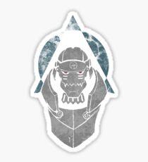 Alphonse Elric Grunge Sticker