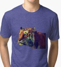 Tiger Polygones Tri-blend T-Shirt