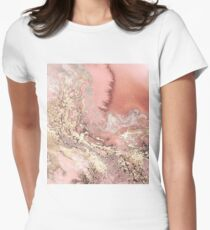 Rose Gold Marble Women's Fitted T-Shirt
