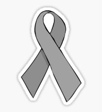 Silver Awareness Ribbon Sticker
