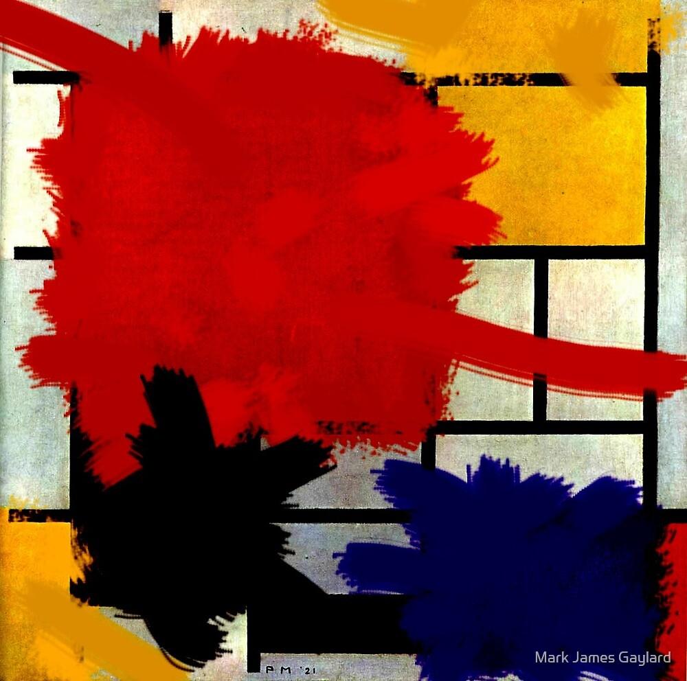 Mondrian has a bad day. by Mark James Gaylard