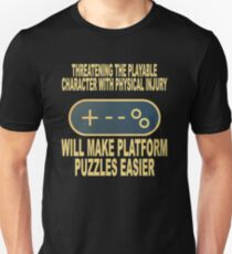 Play Character Injury, Easy Platform Puzzle Gaming T-Shirt