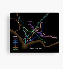 Lima Metro  Canvas Print