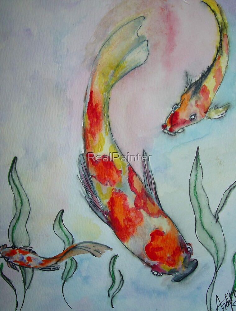 Just a Swimming ( water color) by RealPainter