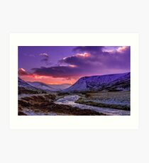 Glenshee near sunset Art Print