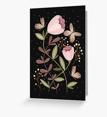 Flowers and butterflies Greeting Card