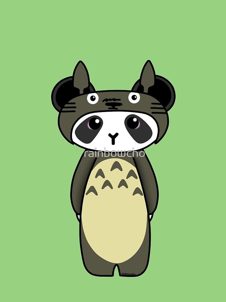 Panda in Totoro cosplay by rainbowcho