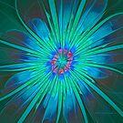 Blue Flower Abstract by Deborah  Benoit