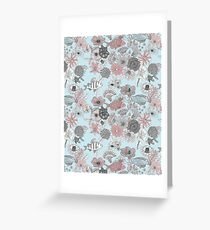 Fantasy underwater fish and flowers Greeting Card