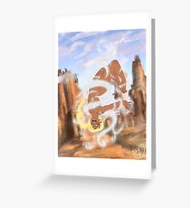 Playing with wind Greeting Card