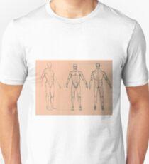 Anatomy sketch of male body T-Shirt