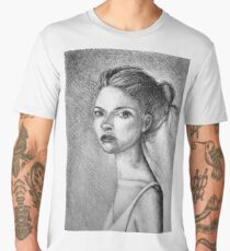 Drawing illustration of beautiful girl portrait  Men's Premium T-Shirt