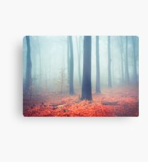 Whispers - Silent Fall Forest Metal Print