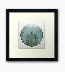 Geometric Misty Forest Framed Print