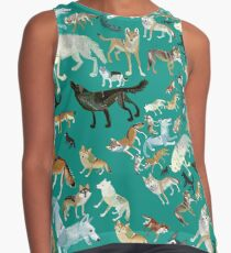 Wolves of the World (Green pattern) Blusa sin mangas