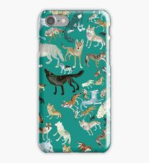 Wolves of the World (pattern) (c) 2017 iPhone Case/Skin