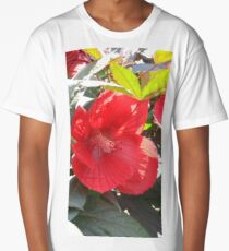 Red hibiscus Long T-Shirt