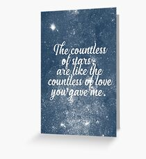 The Countless of Stars Greeting Card