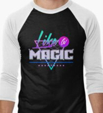 Like a Magic (Black Background) Men's Baseball ¾ T-Shirt