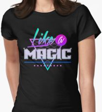 Like a Magic (Black Background) Women's Fitted T-Shirt